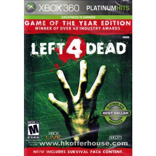 Left 4 Dead Goty Platinum Hits - Xbox 360 Seminovo