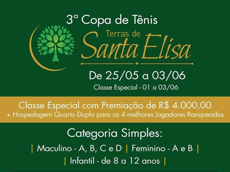 3ª Copa Terras de Santa Elisa - 06/2018