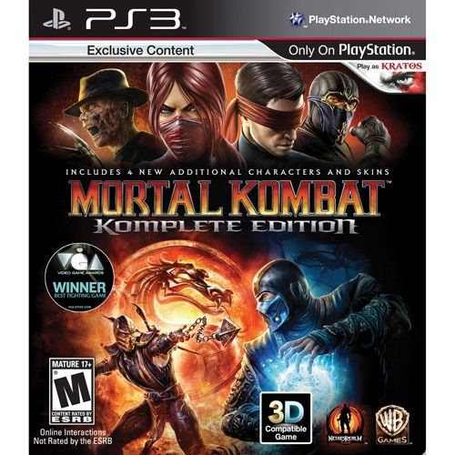 Mortal Kombat Komplete Edition - PS3 Seminovo