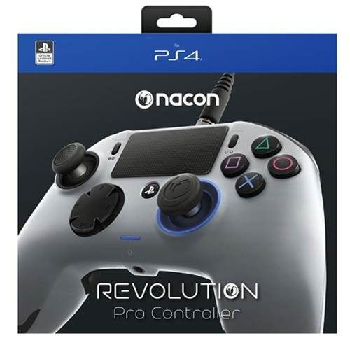 Controle Revolution Pro Nacon Cinza e Prata - Ps4