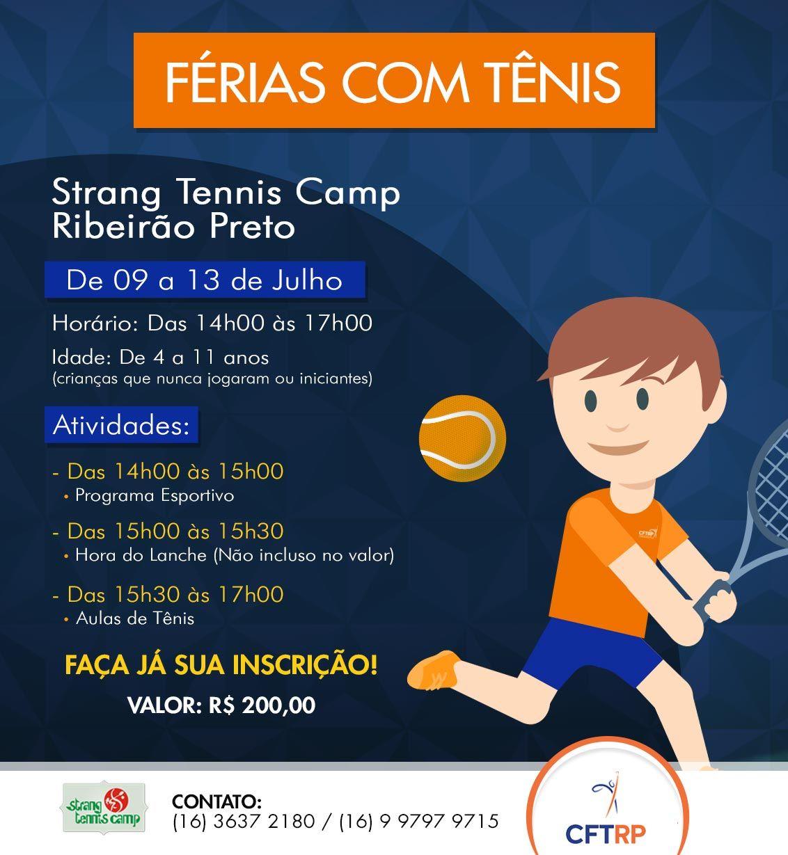 Férias com tênis para crianças