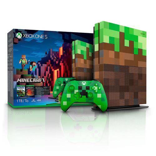 Xbox One S 1TB Minecraft Edition + Controle sem fio