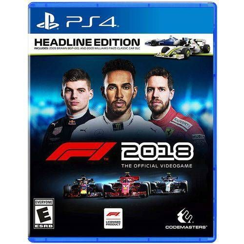 F1 2018 PS4 HEADLINE EDITION Pré Venda 24/08/2018