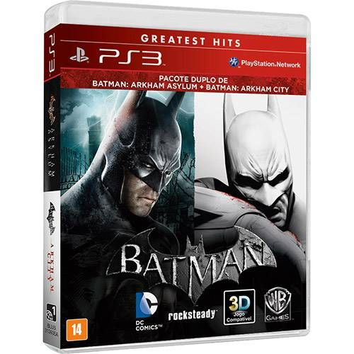 Batman: Arkham Asylum + Arkham City - PS3 Seminovo