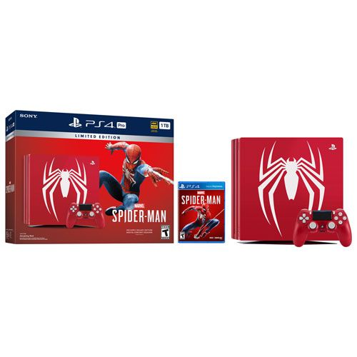 Playstation 4 PRO 1TB Limited Edition SPIDER MAN