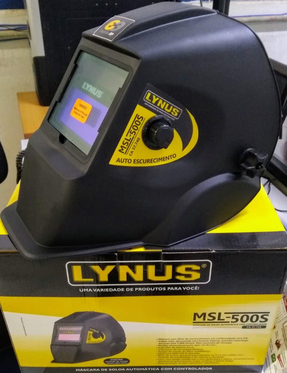 Máscara de Solda Automático com Regulagem - LYNUS-MSL-500S