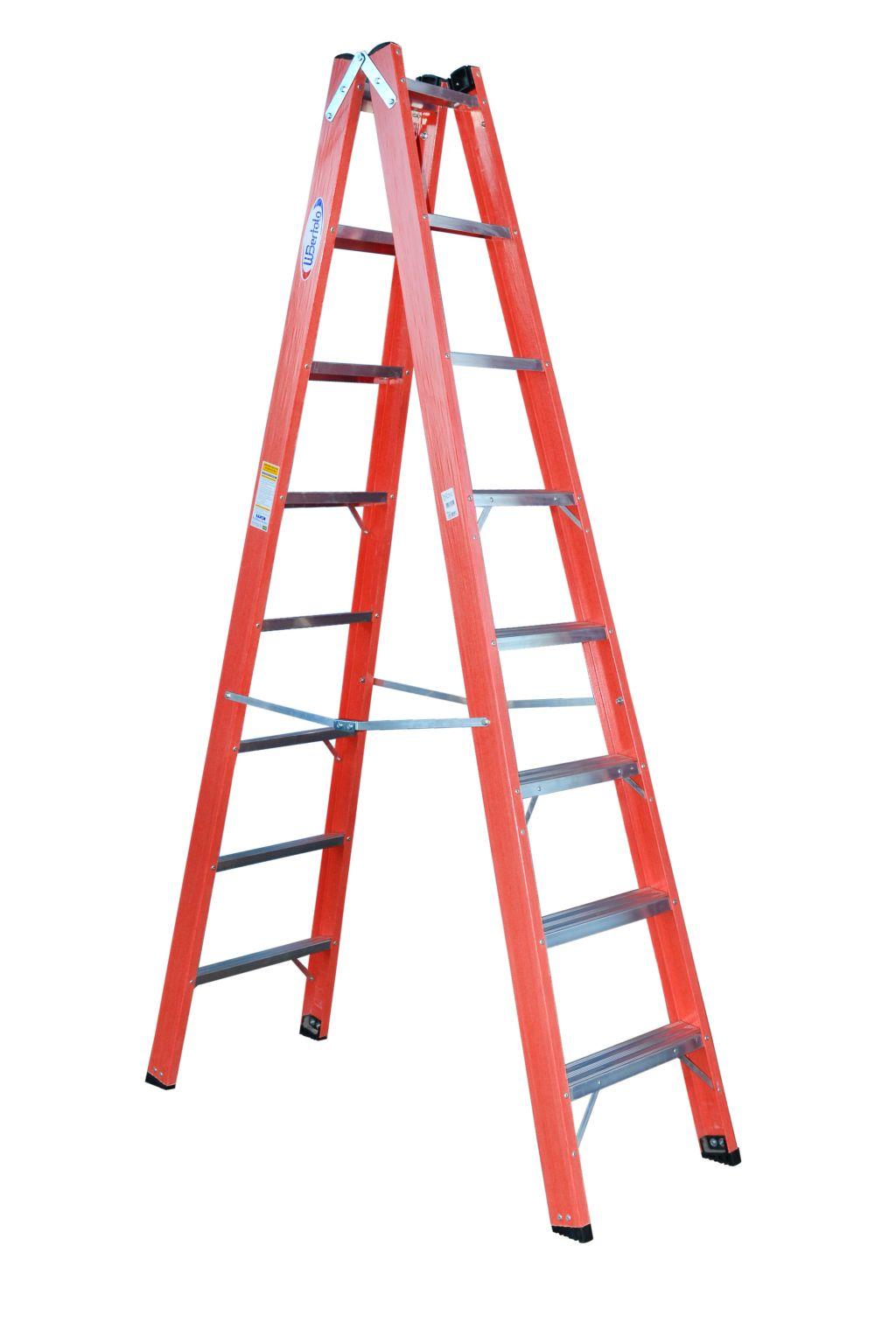 Escada Tesoura Al/Fibra Dupla