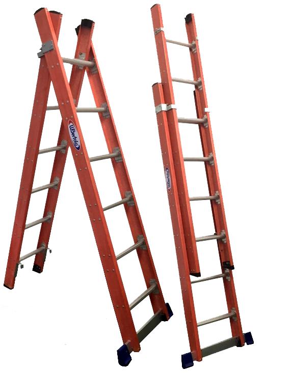 Escada Tesoura Extensível Al/Fibra