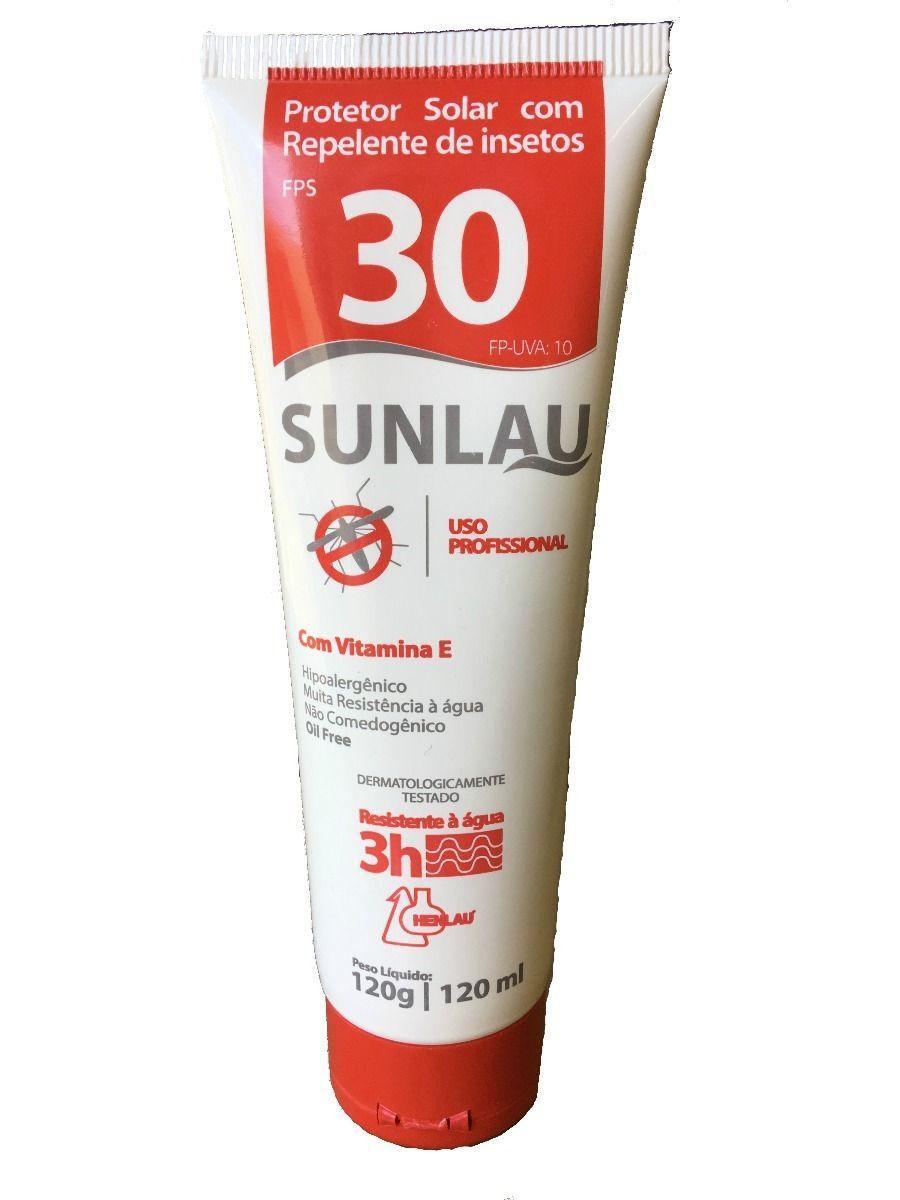 Protetor Solar FPS 30 120ml - SUNLAU