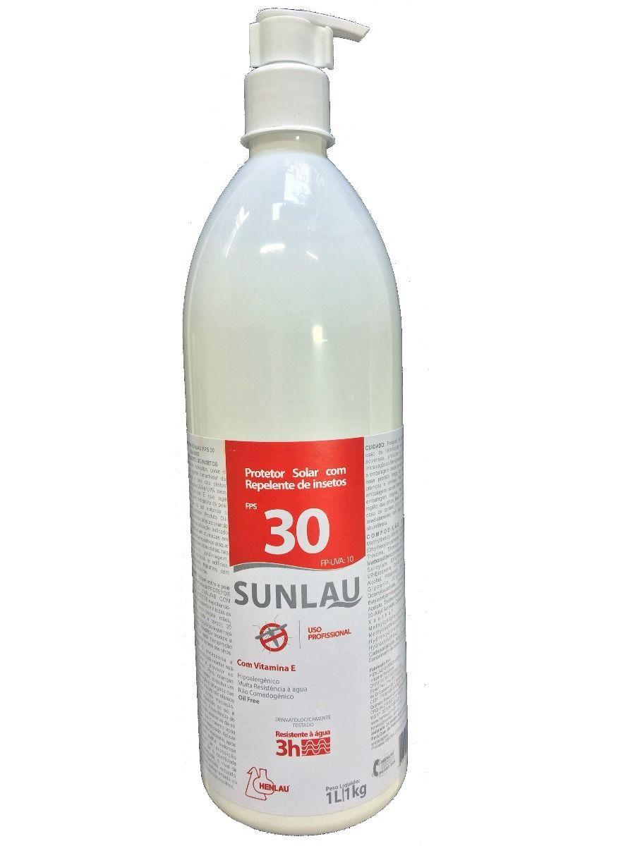 Protetor Solar Profissional FPS 30 1 litro - SUNLAU