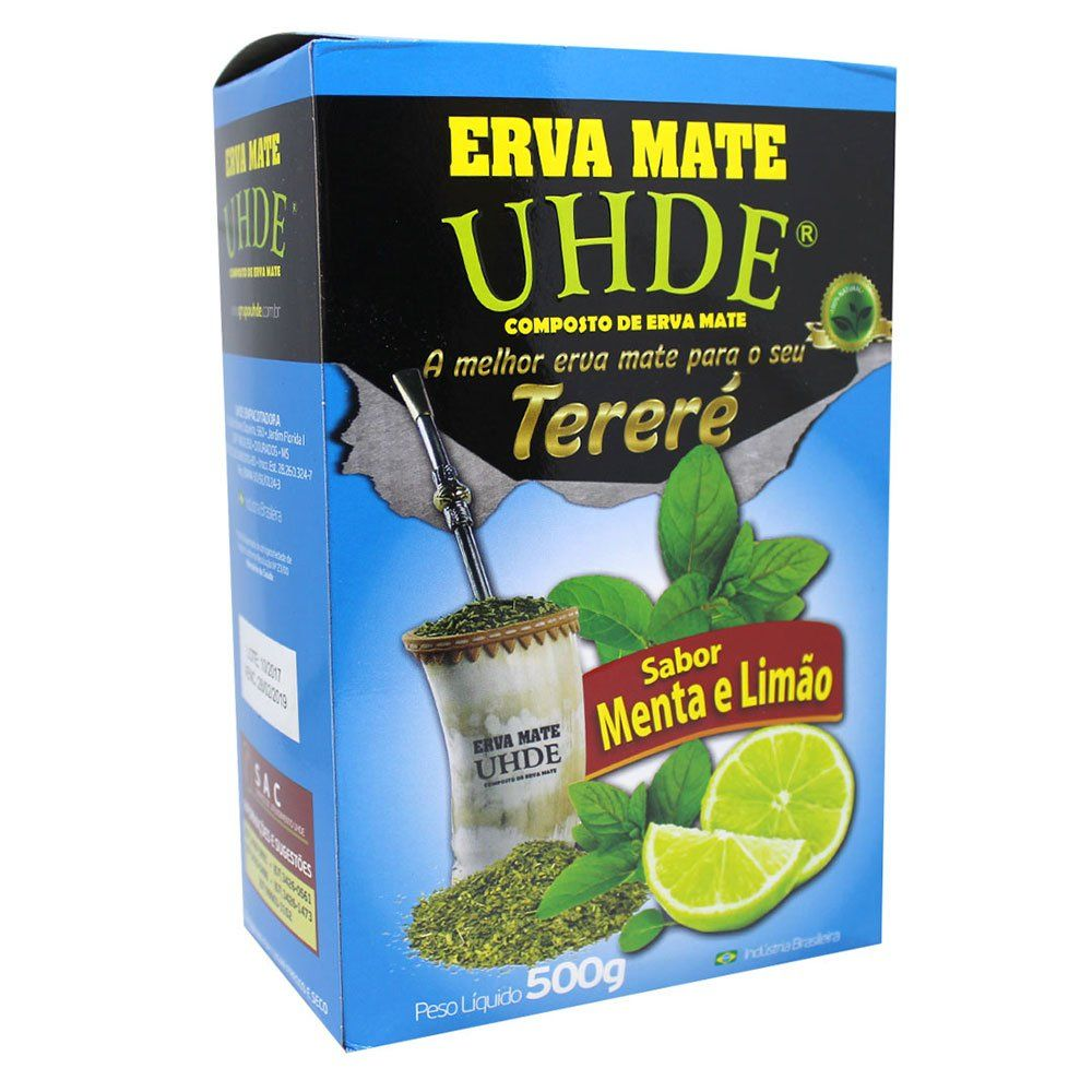 Erva Mate Tereré Uhde Sabor Menta e Limão 500g