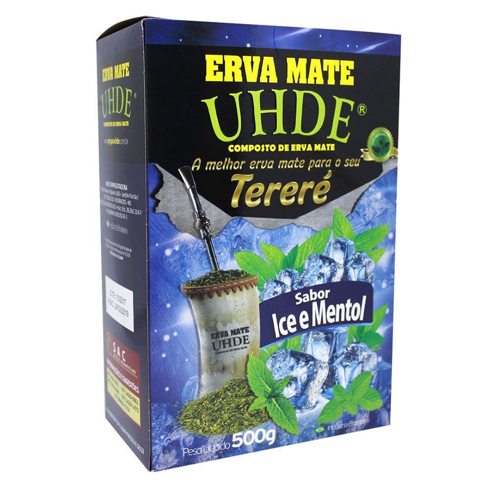 Erva Mate Tereré Uhde Sabor Ice Mentol 500g