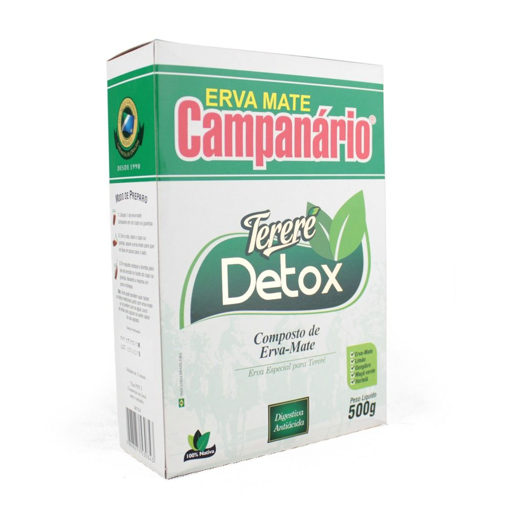 Erva Mate Tereré Campanário Detox 500g