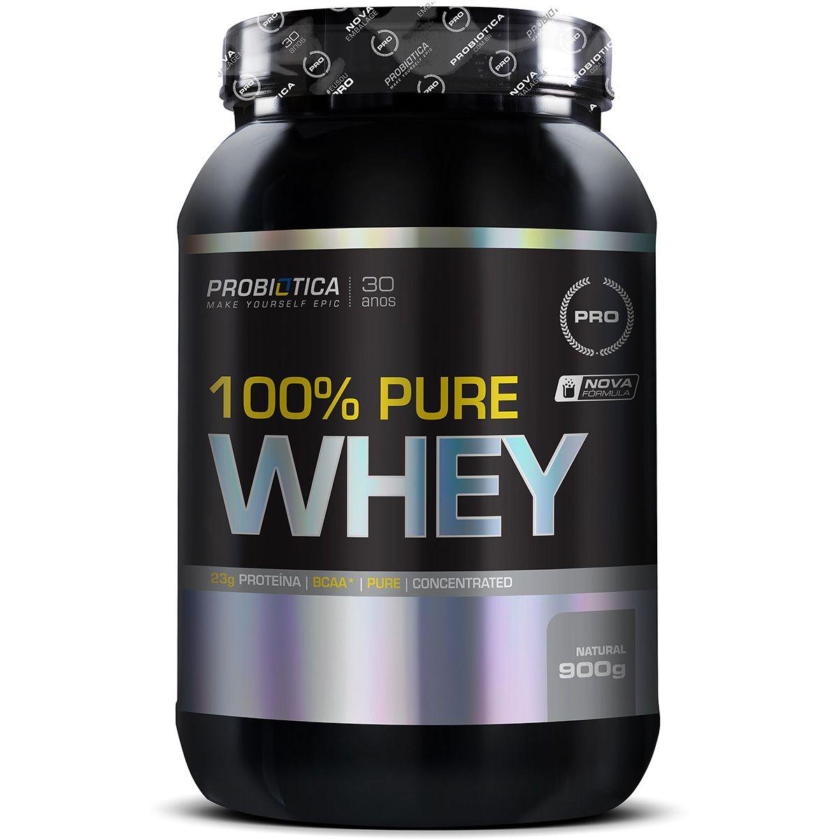 100% Pure Whey 900g - Morango - Probiótica