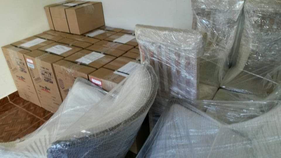 inventario, encaixotamento e identificações das caixas mais embalagem de moveis