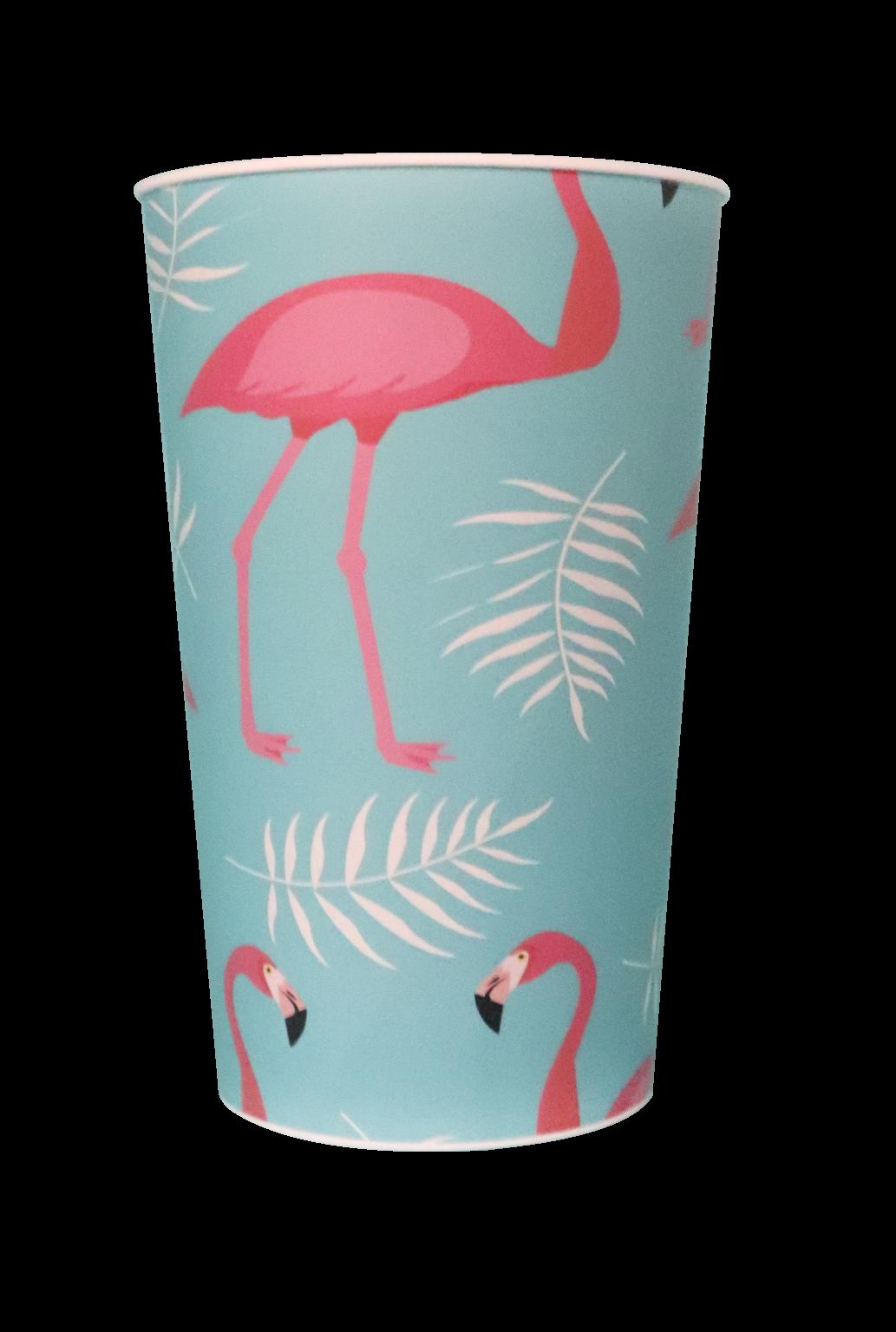 Copo Label 550ml Branco - Flamingo  - Copo verso