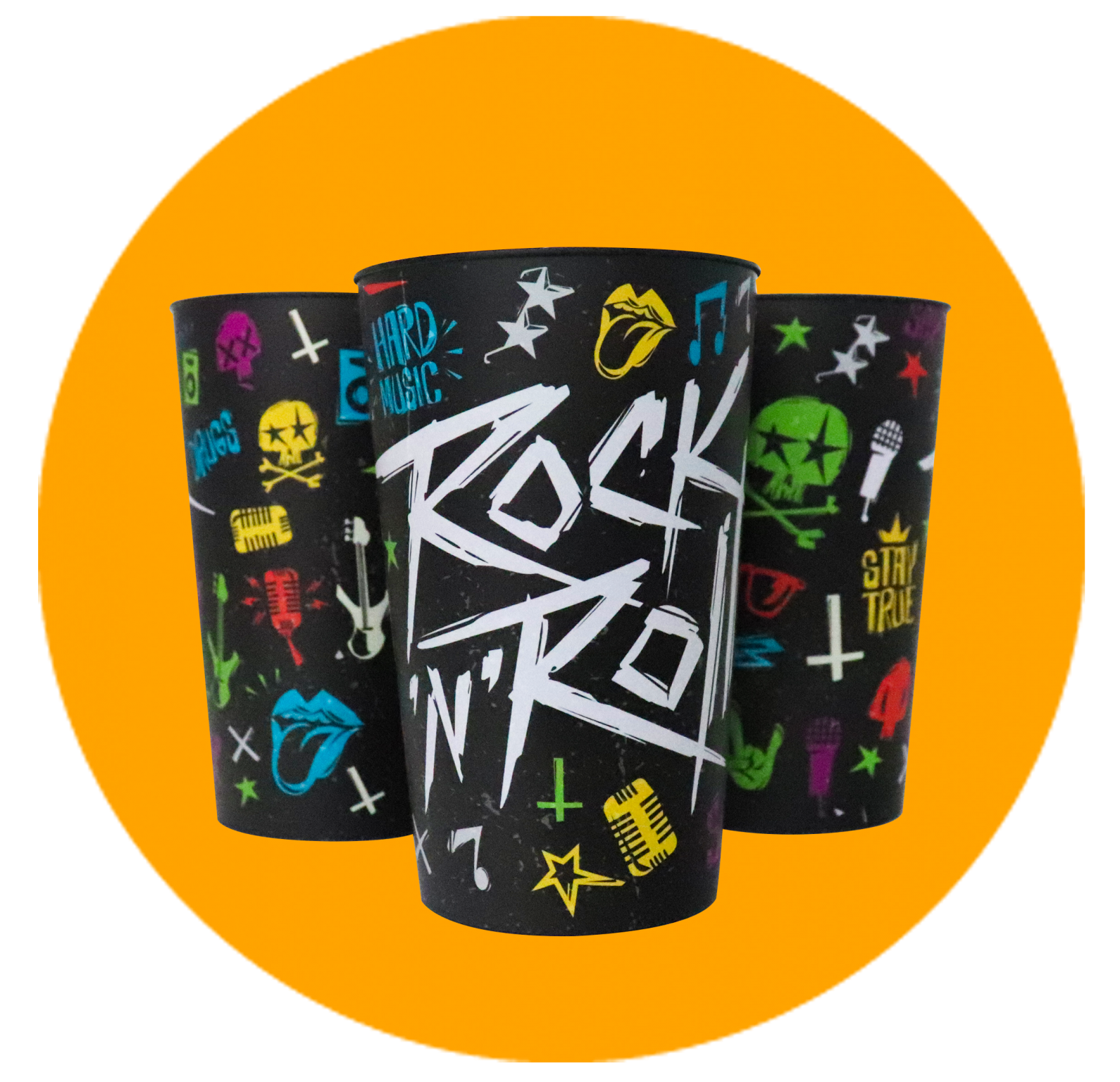 Copo Label 550ml  - Rock n Roll