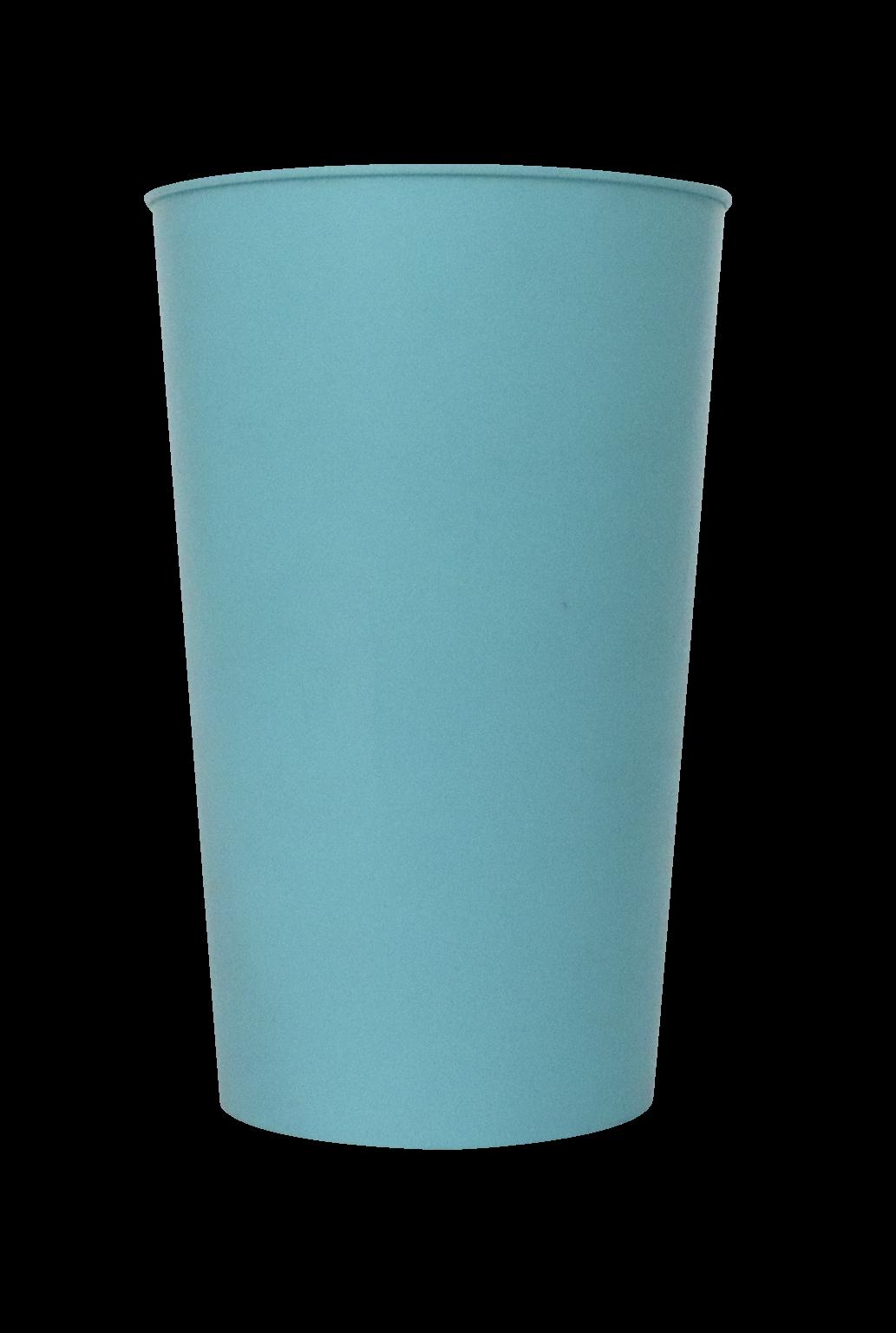 Copo Label 550ml - Hello Summer e Flamingo - Copo azul tiffany liso