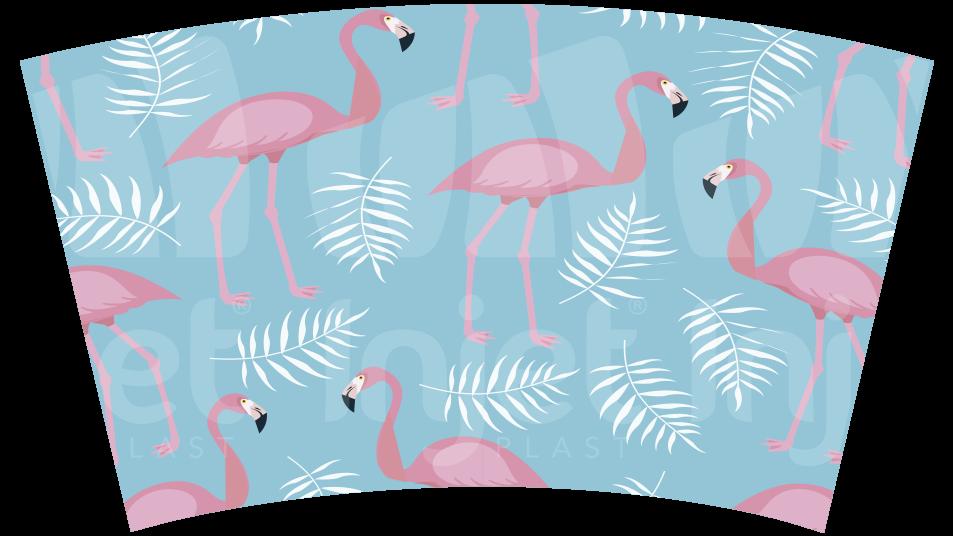 Copo Label 550ml - Hello Summer e Flamingo