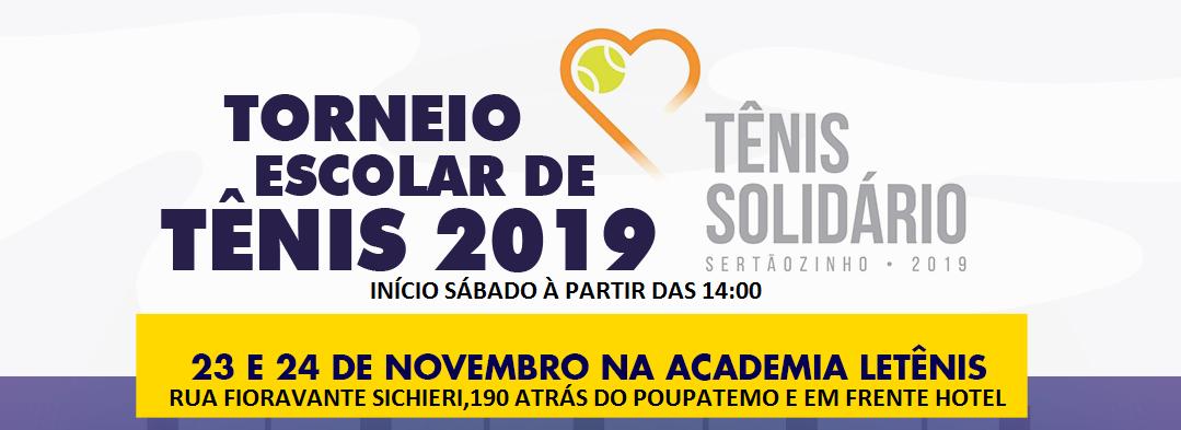 Torneio Escolar de Tênis 2019