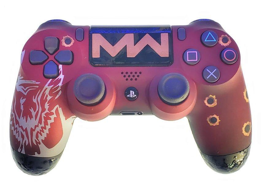 Controle Original Sony COD Modern Warfare Vermelho - Ps4