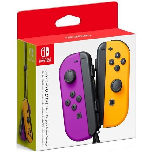 Controle Original Nintendo L R Neon Purple / Orange - Switch