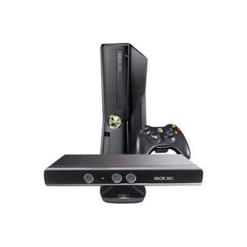 Xbox 360 Slim 2 Controles 16GB LTU + Kinect + 10 Jogos
