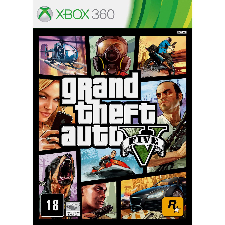 Jogo GTA V - Xbox 360 Mídia Física