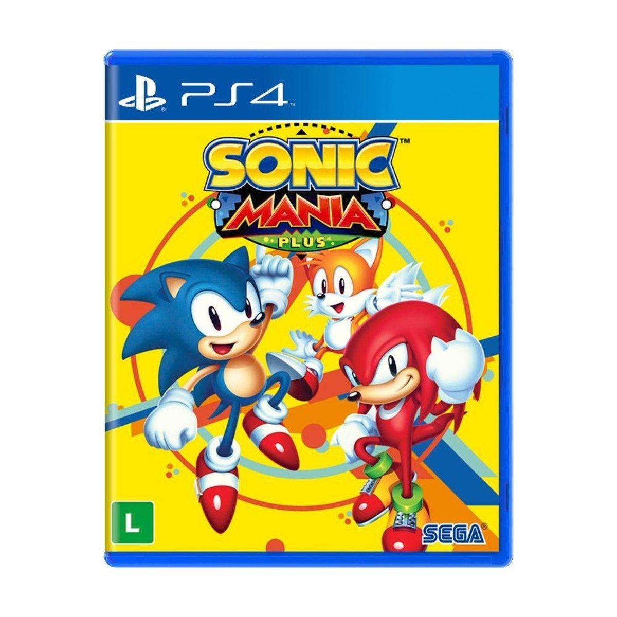 Jogo Sonic Mania - PS4 Mídia Física