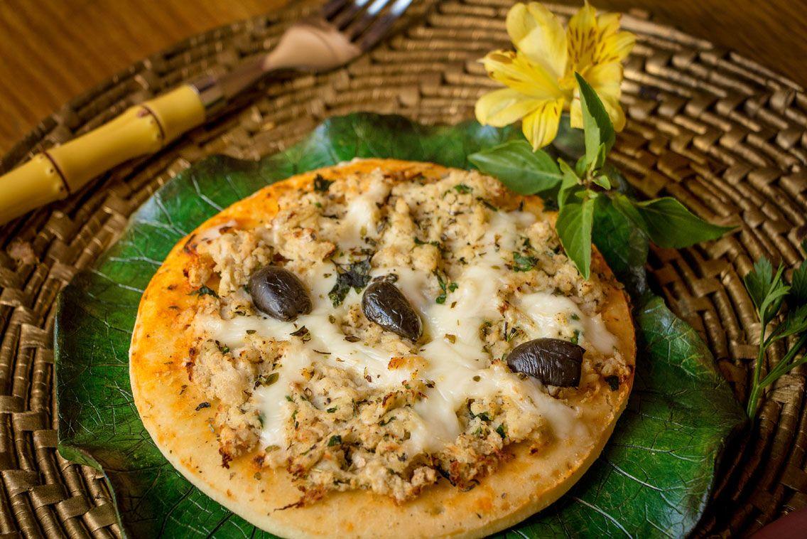 Pizza de Frango com Requeijão sem glúten