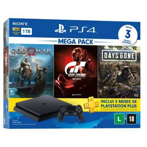 Console Playstation 4 Mega Pack 12 + 3 Jogos