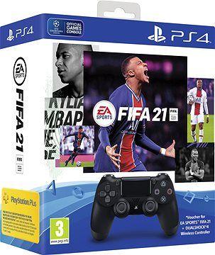 Controle Joystick Sony Dualshock 4 Jet Black + Fifa 21